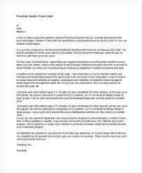 Preschool Teacher Cover Letter Cycling Studio