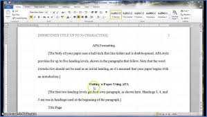 How To Do Apa Format In Word What Is Apa Template Word 162