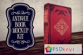 antique book mockup kit 218693