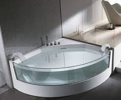 clear sided bathtub from teuco gorgeous view whirlpool bathtubs with glass panels