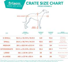 Pet Porter Size Chart Frisco Plastic Kennel Almond Black Medium