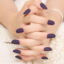 839 24ks Matný Tmavě Purpurová Barva čisté Nehty Proužky Módní A Elegantní 1set