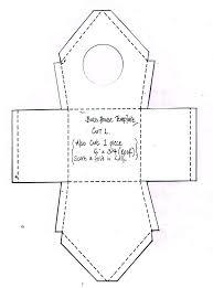 Gift Box Templates Free Printable Bird House Paper Template Folding