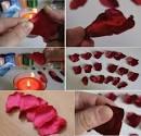 Роза из лепестков роз