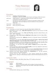 Resume In English Free Resume Example And Writing Download