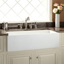 White Apron Kitchen Sink Fireclay Farmhouse Kitchen Sinks Signature Hardware