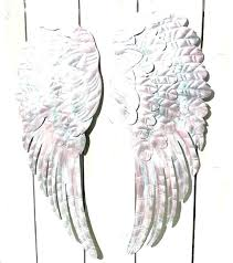 angel wings wall decor large wing silver decoration home design ideas excellent michaels
