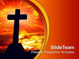 Christian Templates Jesus Christ God Powerpoint Templates Cross Religion