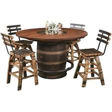 barrel table and chairs whiskey barrel table set crate and barrel bistro table set
