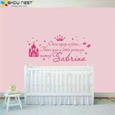 >custom princess girl name decals wall sticker for kids rooms baby  custom princess girl name decals wall sticker for kids rooms baby girl nursery wall decals girl s