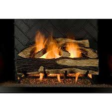 seasoned hickory 24 in vented gas log