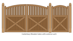 canterbury woodene gates with common arch canterbury wooden