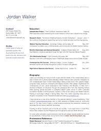 Sample Resume Professional Biography Examples New Resume Bio