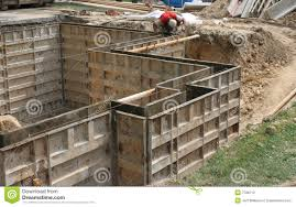 Making Cement Forms Wall Forms Molds For Concrete Stock Photography Image 7788712