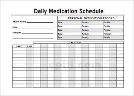 hourly checklist template medication schedule template 12 free word excel pdf format