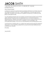Sample Customer Service Cover Letter A Good Resume 54199