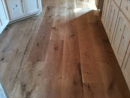 character 10 wide plank white oak hardwood flooring rustic kitchen