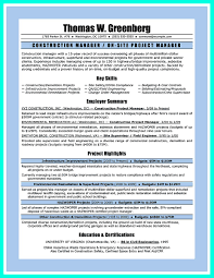 Site Superintendent Resume Nice Simple Construction Superintendent Resume Example To Get 21