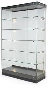 48 trophy display case w frameless design adjule shelves regarding sliding door lock for glass display