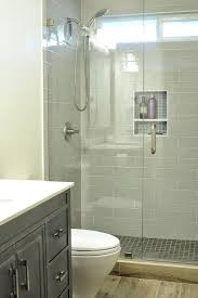 small walk in shower walk in shower small bathroom with niche and brushed nickel fixtures looks