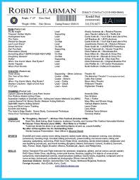 Acting Resume Template Unique Acting Resume Example Template Examples No Experience 87