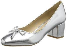 dorothy perkins women s devine scallop closed toe heels silver metallic shoes court dorothy perkins