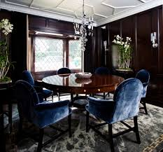 blue dining room furniture. Magnificent Dining Room Furniture With Dwell Table : Contemporary Decoration Round Dark Blue N