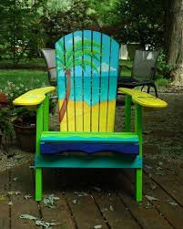 tropical painted furniture. Perfect Furniture Tropical Painted Furniture Modern On With Custom Adirondack Chairs Awesome  Hand By IndyRtist Etsy 10 And B