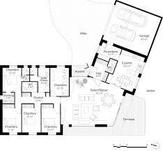 Plan De Maison 4 Chambres Plain Pied En V