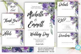 Purple Blue Floral Wedding Invitation Template Printable Template Instant Download Diy Wedding Wedding Template Boho Script Editable