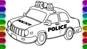 Small Picture Police Car Drawing and Coloring Page Police Car Colouring Book