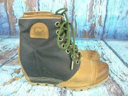 sorel 1964 premium wedge brown leather black canvas nl2174 010 size 9 5 footwear boots sidelineswap
