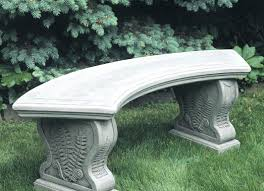 Stone Age Creations  Accents For Your Home And GardenStone Benches With Backs