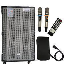 Loa Kéo Karaoke Bluetooth JMW J7000s Bass 4 Tấc 1 Loa Trung 2 Loa Treble  Vân Gỗ Chính Hãng - Loa kéo