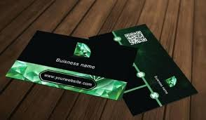 Green Diamond Business Card Template File Free Download Ppt