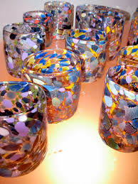 Wordless Wednesday: Glass Tumblers by Aaron Wiener at the Water Gallery,  Lansdale, PA - Margaret Almon