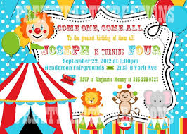 Circus Party Invitation Stunning Circus Party Invitations Weareatlove