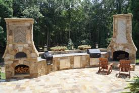 Home Decor: Outdoor Fireplace With Pizza Oven Best Home Design Lovely On
