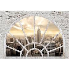 Vlies Fototapete New York Die Stadt Am Morgen Fenster 3d