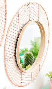 DIY Copper and Wood Mirrors (Click Through For Tutorial) ...