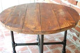 round industrial coffee table. Industrial Wood Table Round Coffee X Reclaimed Router I