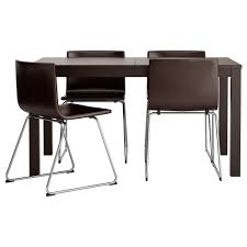 ikea bernhard bjursta table and 4 chairs the clear lacquered surface is easy to