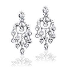 king jewelers rose diamond chandelier earrings