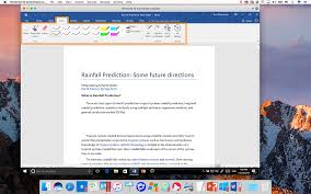 microsoft ink in word on a mac
