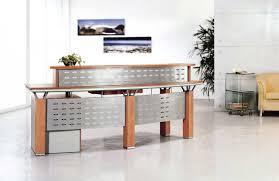 modern office decorating using fresh receptionist desk modern office furniture with solid wood receptionist desk