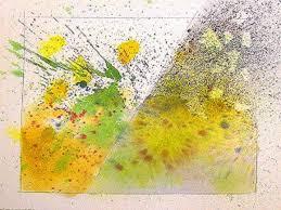 splatter spray watercolor techniques