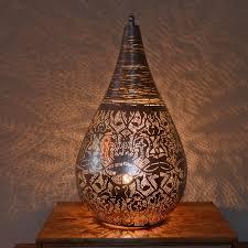 Oosterse Tafellamp Filigrain Zilver Met Draad Nu Scherpe Prijzen