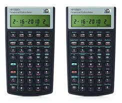 Financial Calculator Hp 10bii Financial Calculator Nw239aa 2 Pack