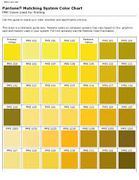 Pdf Pantone Matching System Color Chart Pms Colors Used