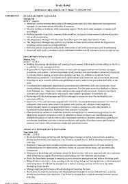 Sample Zoning Supervisor Resume Department Manager Resume Samples Velvet Jobs